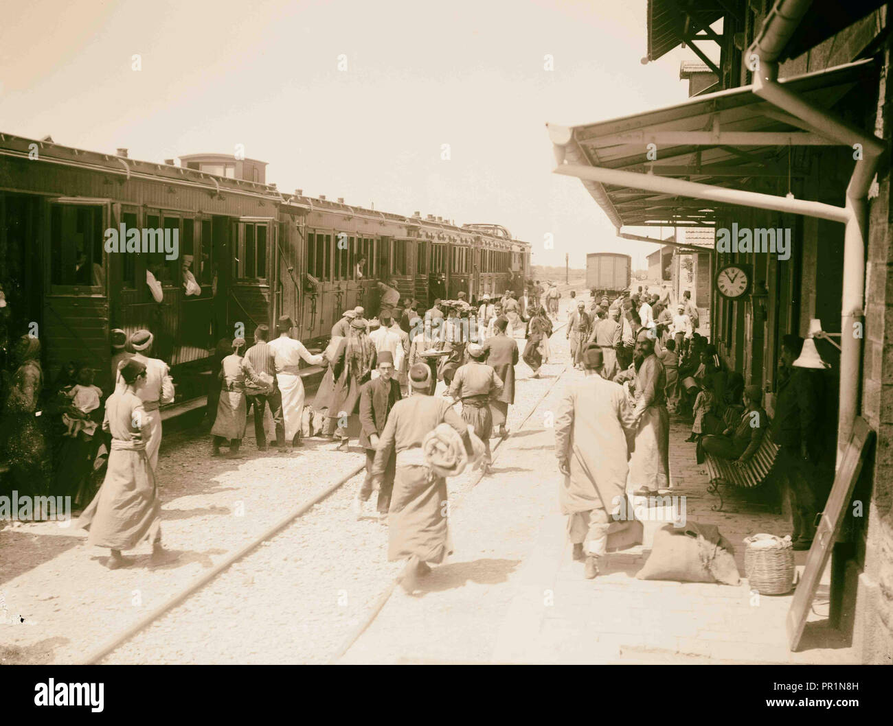Railroad station Homs. 1898, Syria, Ḥimṣ - Stock Image