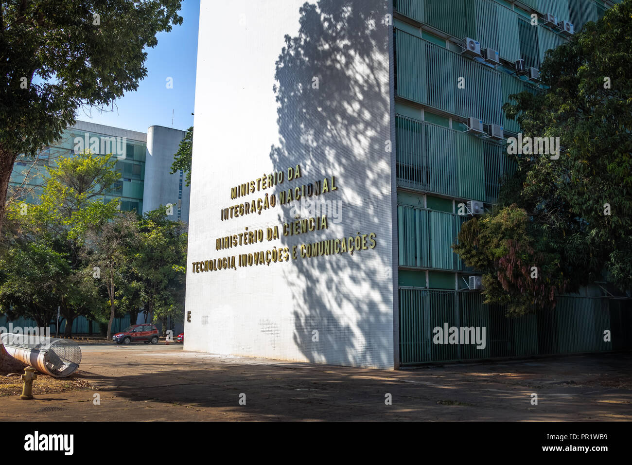Ministry of National Integration and Ministry of Science, Technology, Innovation and Communication building - Brasilia, Distrito Federal, Brazil - Stock Image