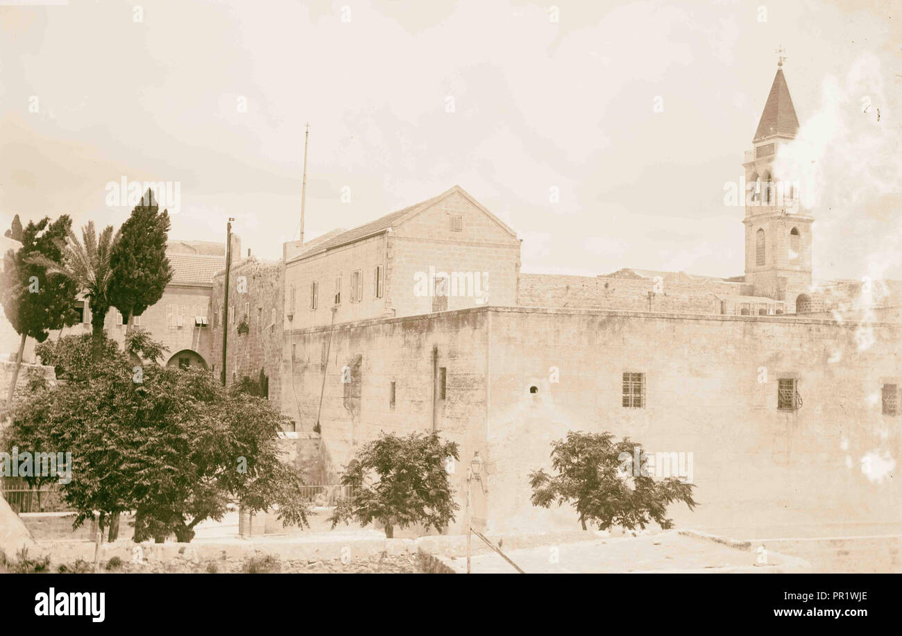 N. Palestine, Church of Annunciation (backview). 1898, Israel, Nazareth - Stock Image