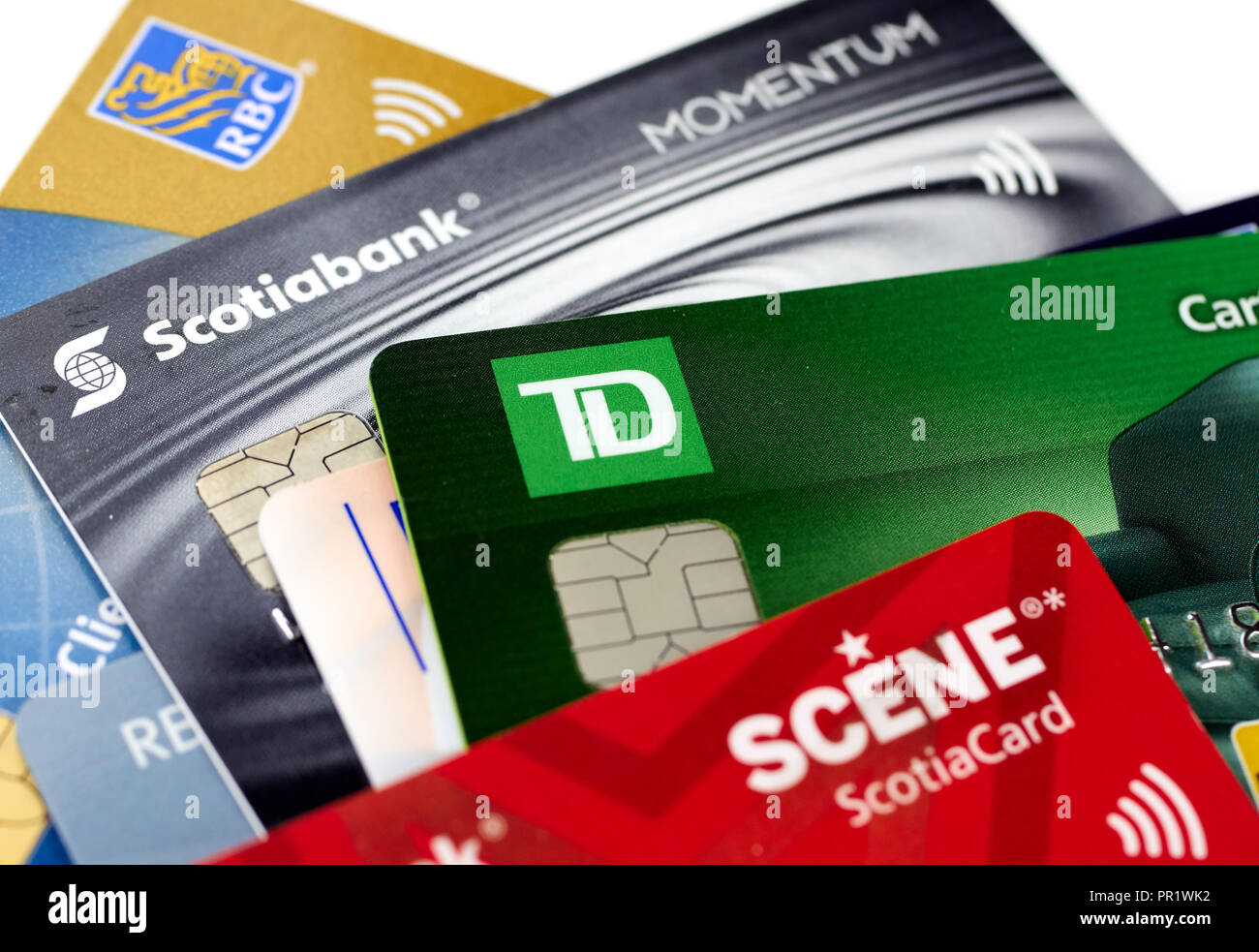 Td Credit Cards >> Montreal Canada September 21 2018 Credit Cards Of Different