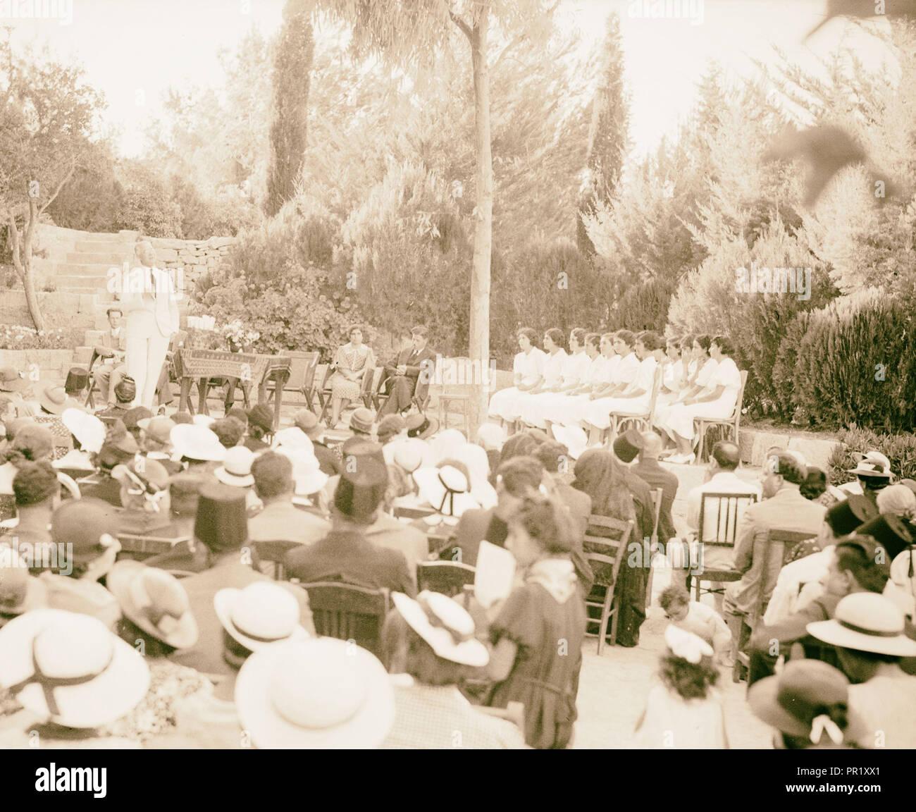 Ramallah Quaker Mission School photographed in 1937. 1937, West Bank, Rām Allāh - Stock Image