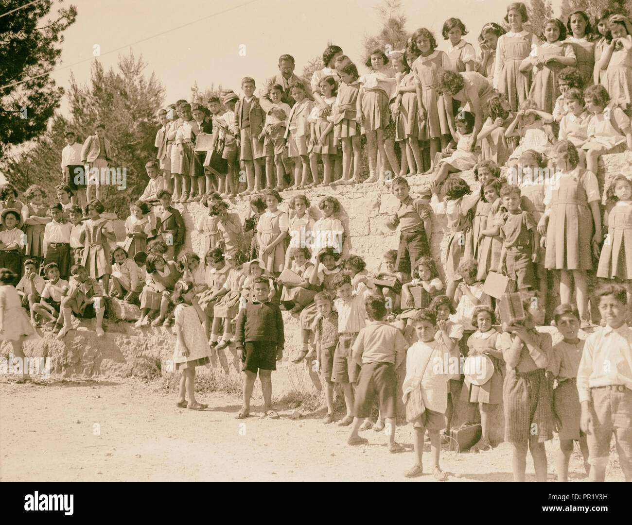 Ramallah Quaker Mission School, photographed in 1937. 1937, West Bank, Rām Allāh - Stock Image