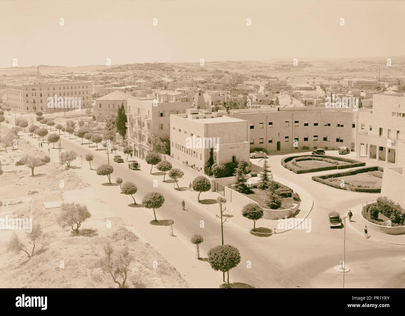 Zionist executive & King George Ave. 1942, Jerusalem, Israel - Stock Image