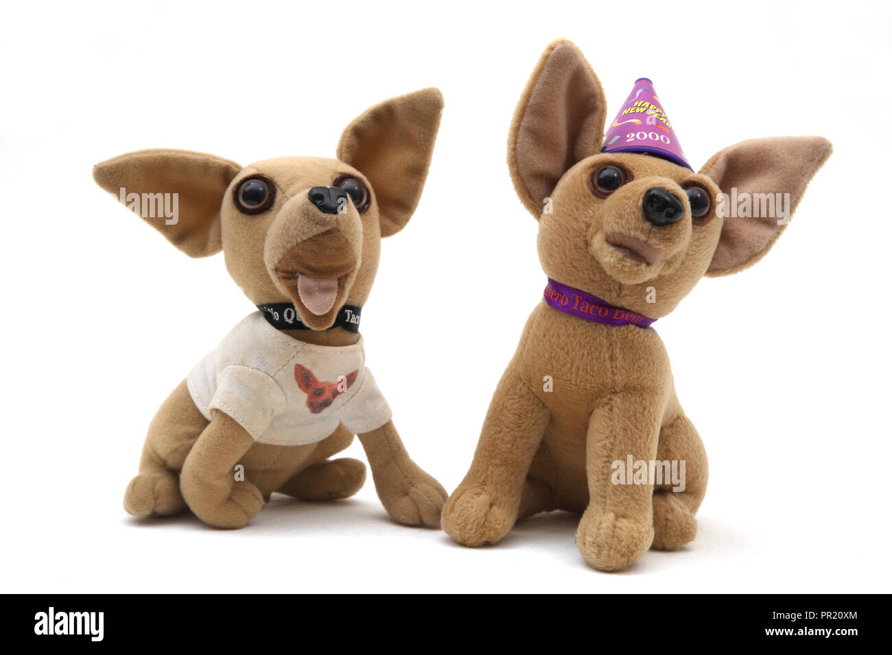 Promotional Taco Bell Chihuahua Dogs Collectable Toys - Stock Image