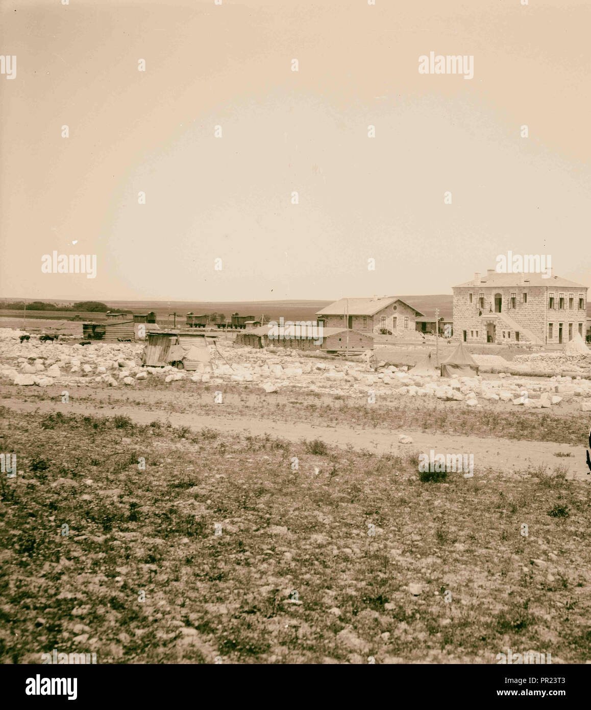 German Baghdad Railway, Construction camp. 1900, Middle East - Stock Image