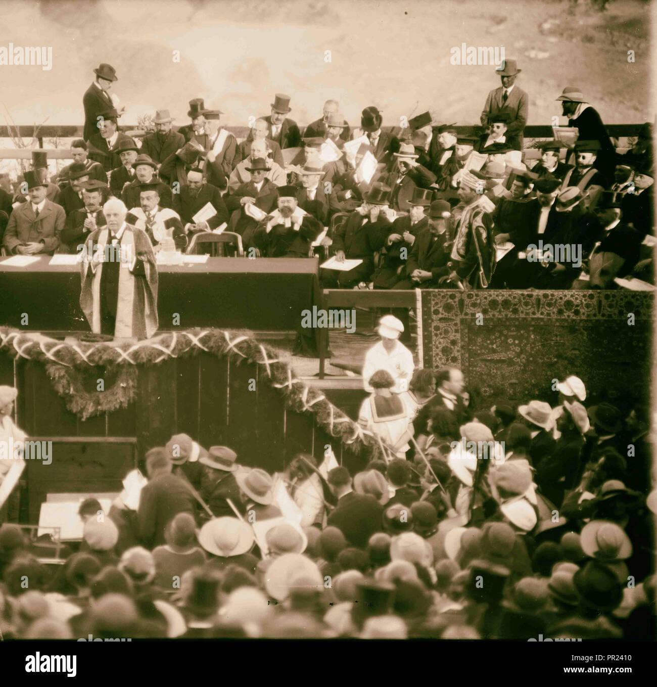 Opening of the Hebrew University 1925, Jerusalem, Israel - Stock Image