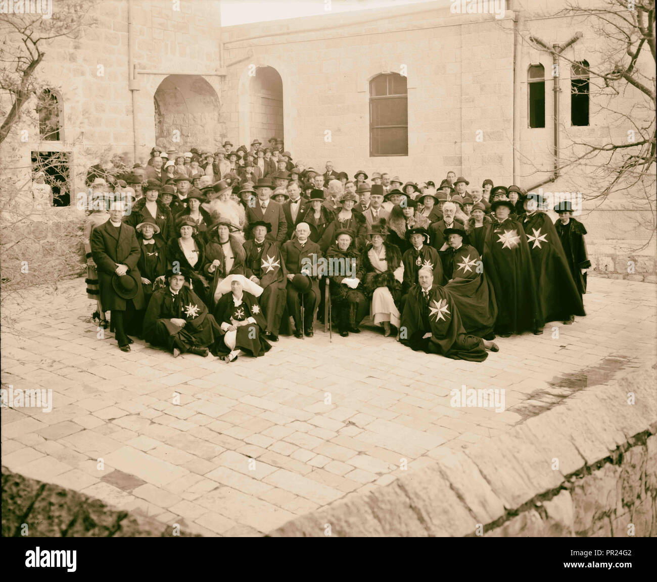 Entire staff, Ophthalmic Hospital 1898, Middle East, Israel - Stock Image