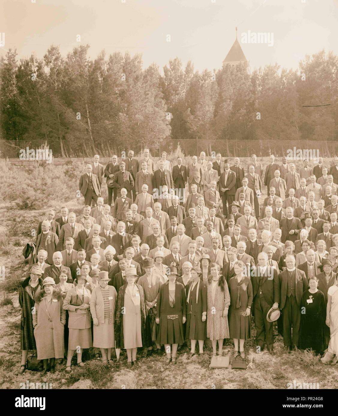 Entire I.M.C., International Missionary Council group, 1928. 1928, Jerusalem, Israel - Stock Image