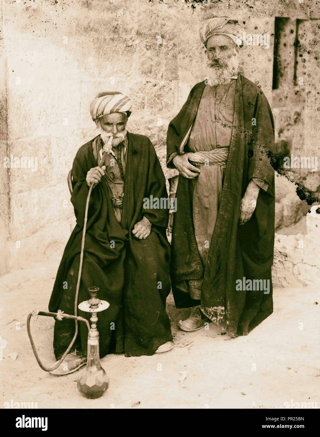Costumes, characters and ceremonies, Bethlehemite. 1898, West Bank, Bethlehem, Israel - Stock Image
