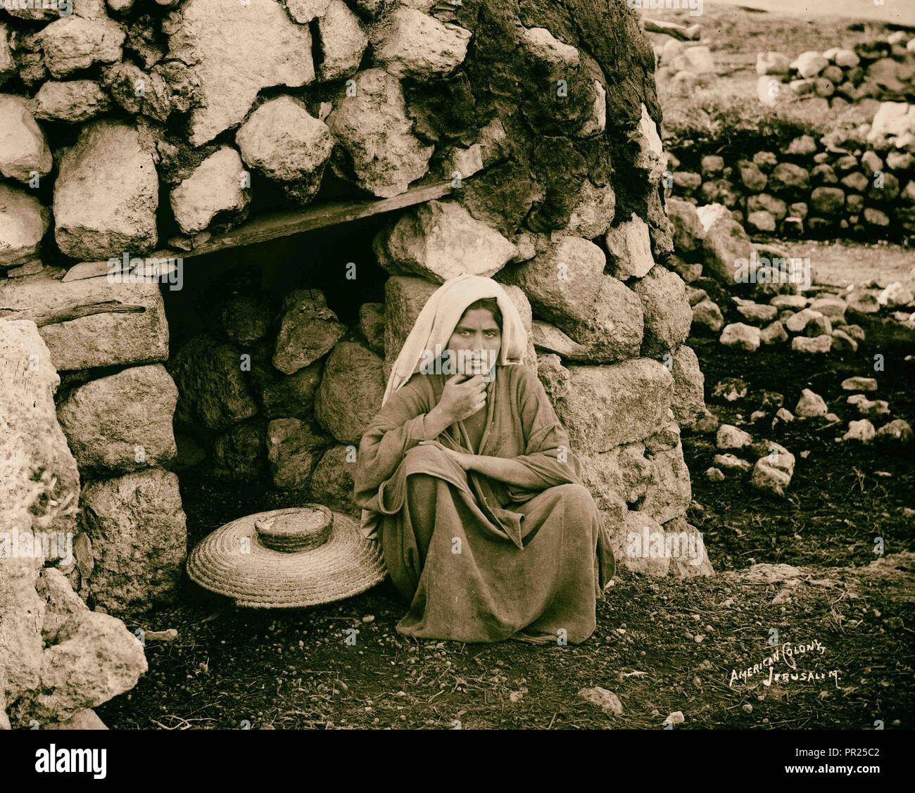 Costumes, characters and ceremonies, Village oven. 1898, Middle East, Israel and/or Palestine - Stock Image