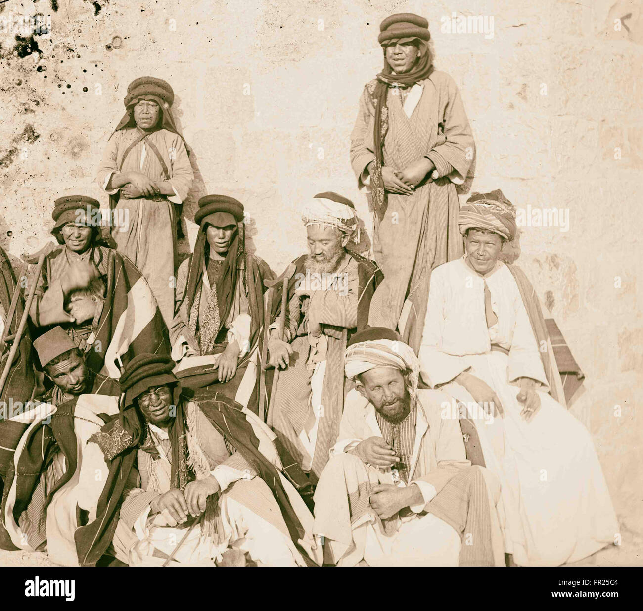 Costumes, characters and ceremonies, Lepers. 1898, Middle East, Israel and/or Palestine - Stock Image