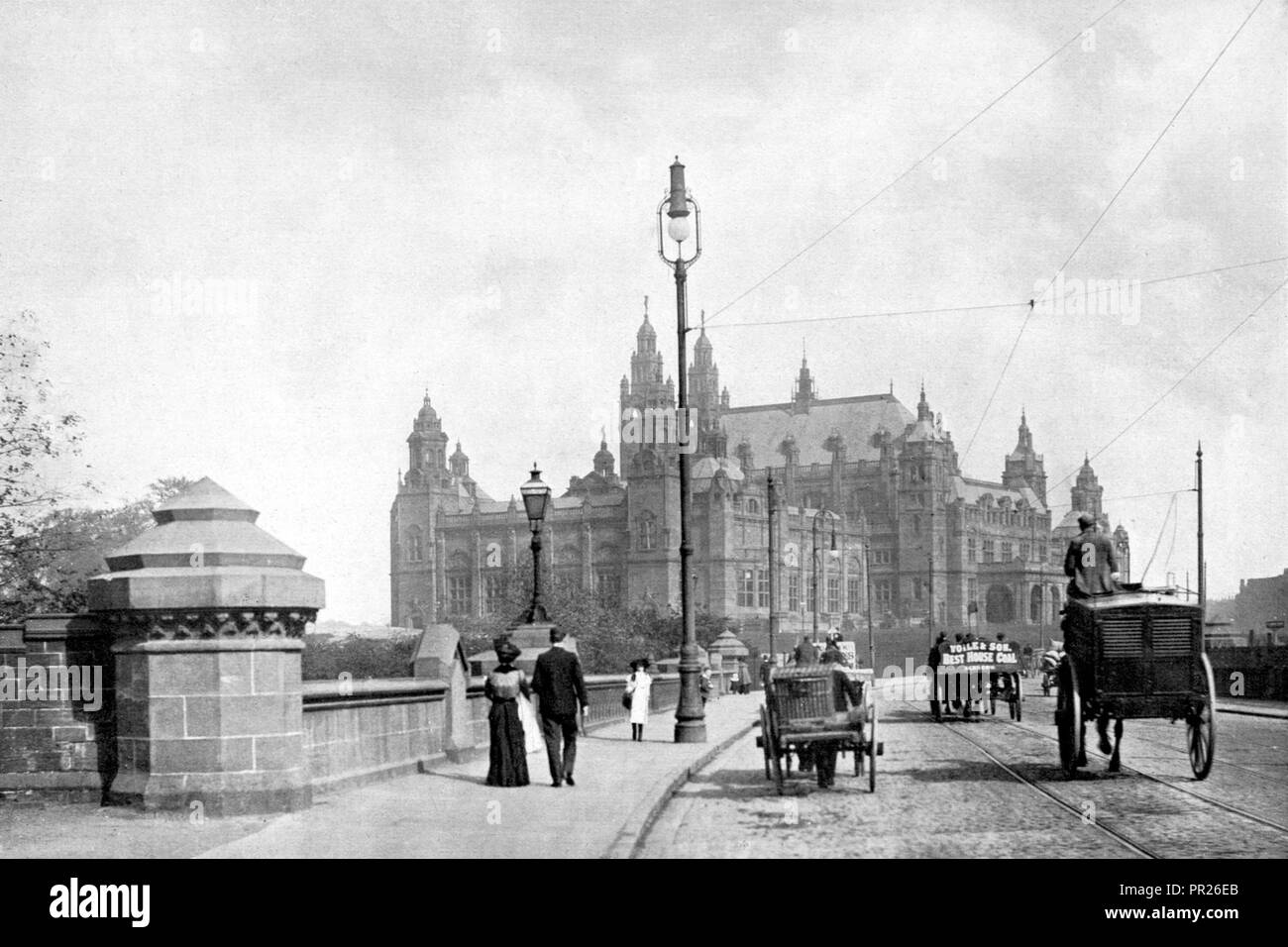 Partick Bridge, Glasgow early 1900's - Stock Image
