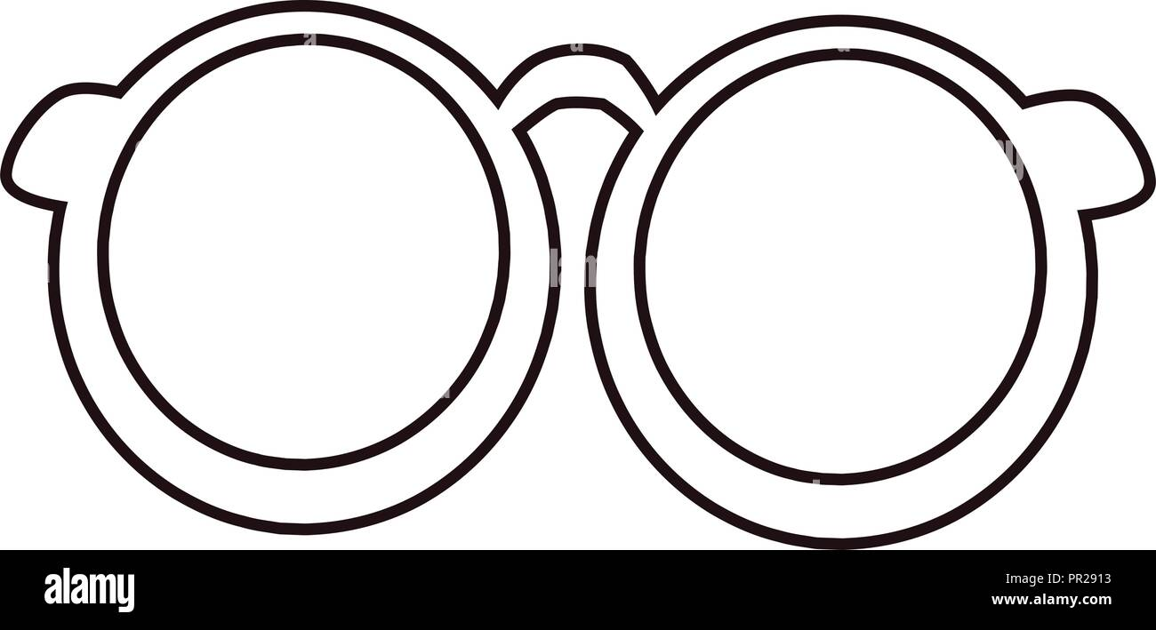 Black Frame Spectacles Stock Vector Images - Alamy