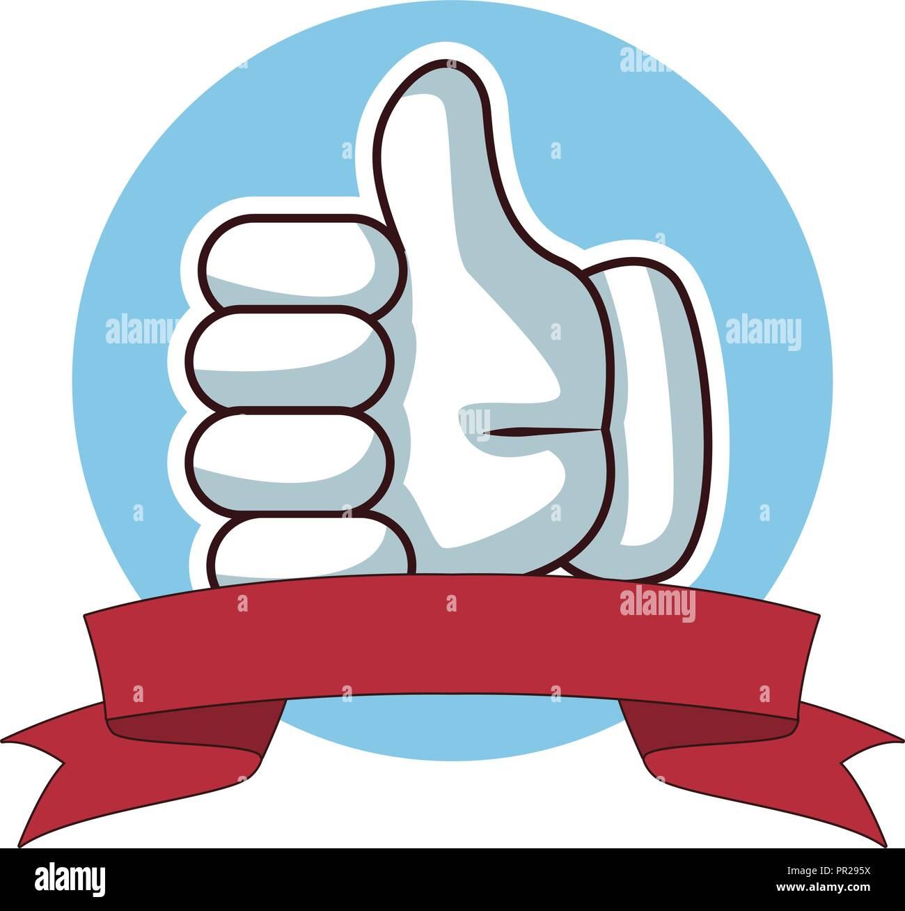 Thumb up hand - Stock Image