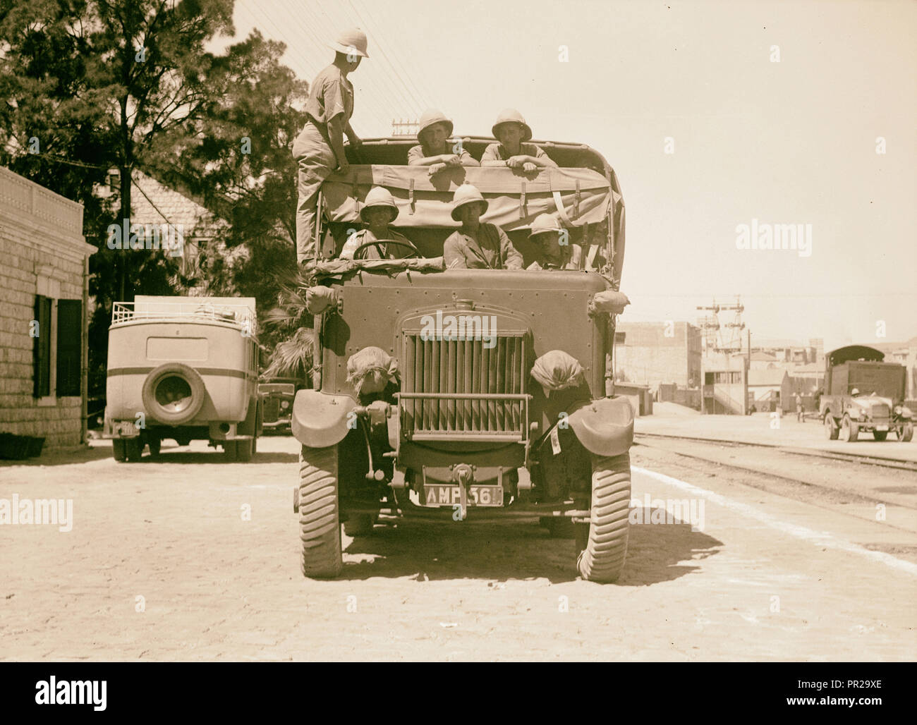 Palestine disturbances 1936. Army lorry, one of the many brought on above mentioned ships. 1936 - Stock Image