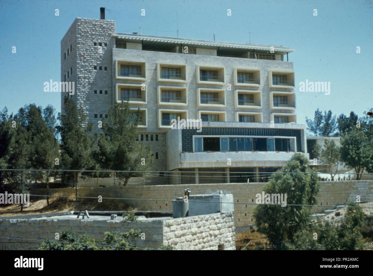 Buildings in Jerusalem Embassador Hotel on Mt. Scopus (Arab Jerusalem) Photograph shows the Ambassador Hotel, Sheikh Jarrah - Stock Image