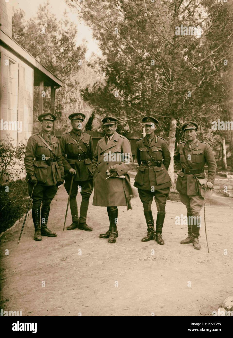 The surrender of Jerusalem to the British December 9th, 1917. British generals who captured Jerusalem. 1917, Jerusalem, Israel - Stock Image