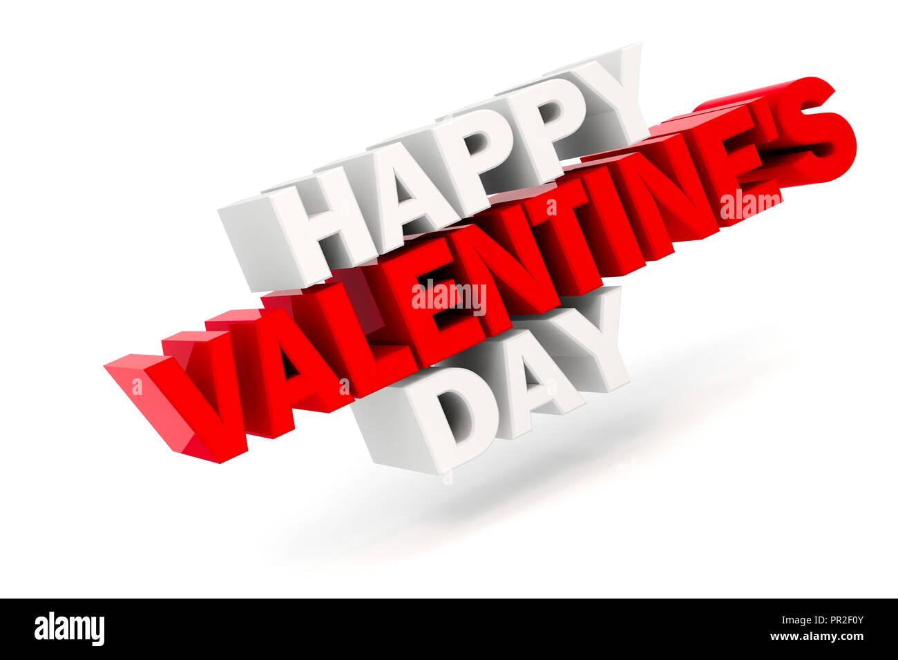 3d Happy Valentine S Day Text Stock Photo 220717195 Alamy