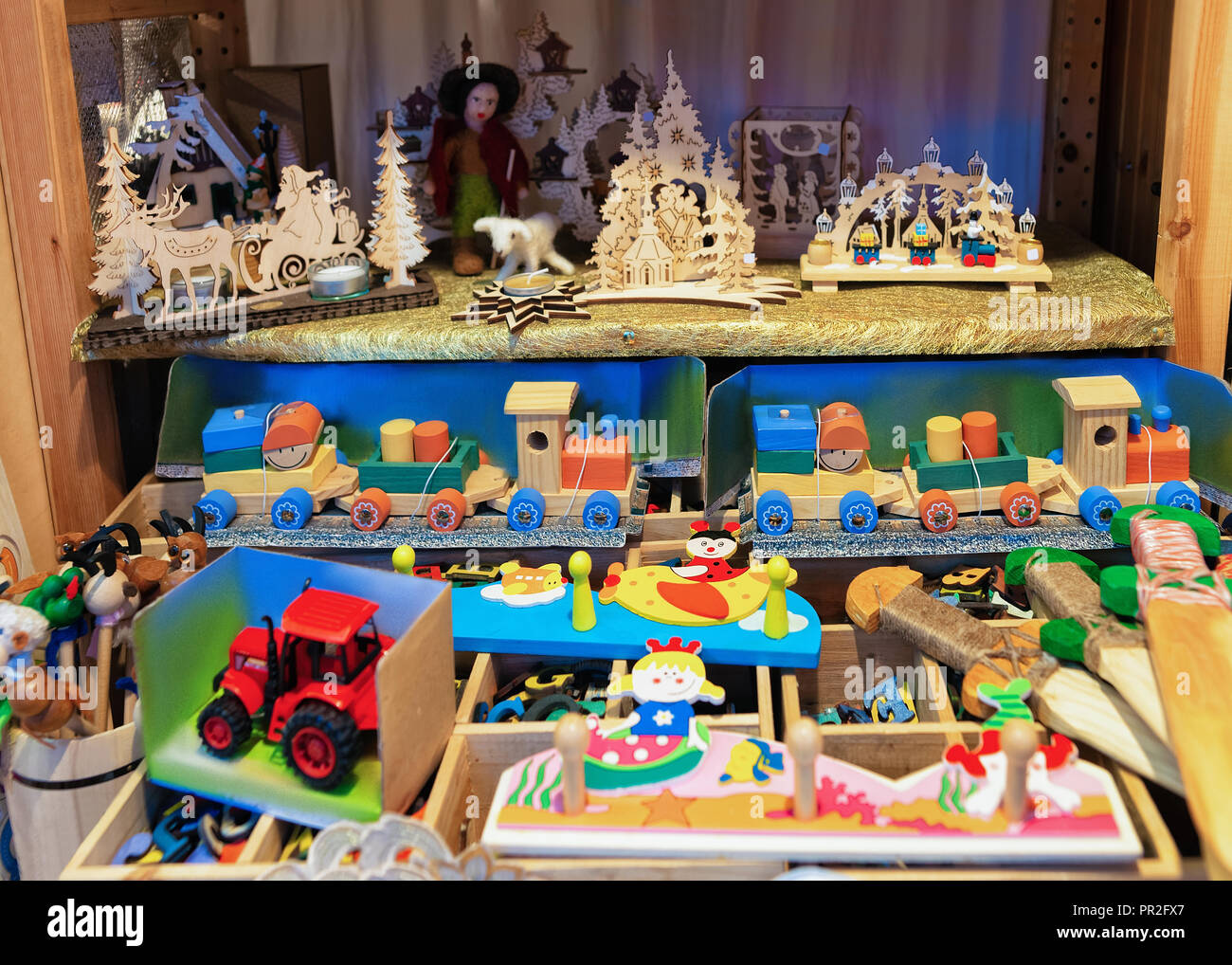 Lego Weihnachtsmarkt.Wooden Toys At Christmas Market At Charlottenburg Palace In Winter