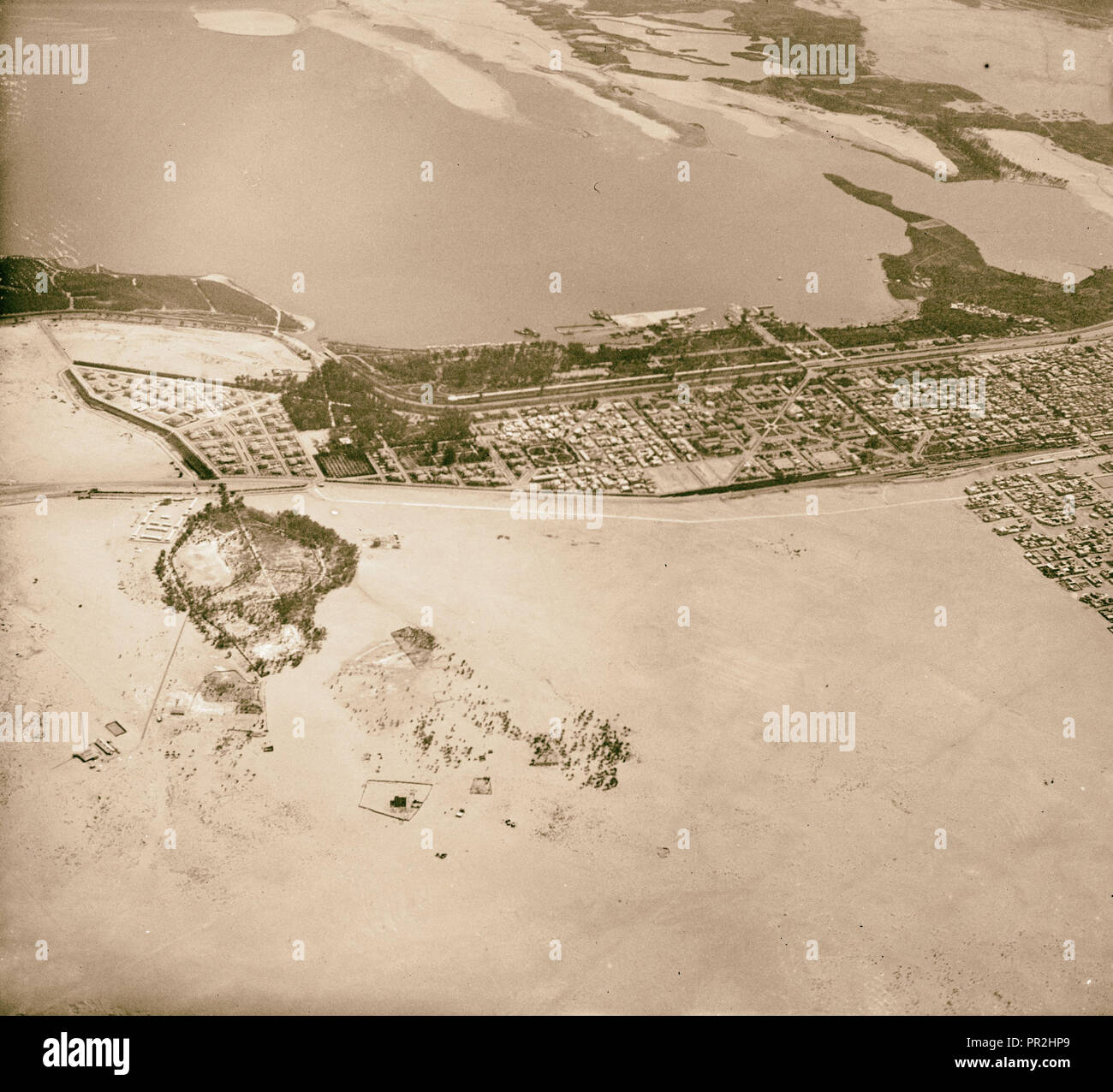 Aerial views, Alexandria? etc. 1910, Egypt, Alexandria - Stock Image