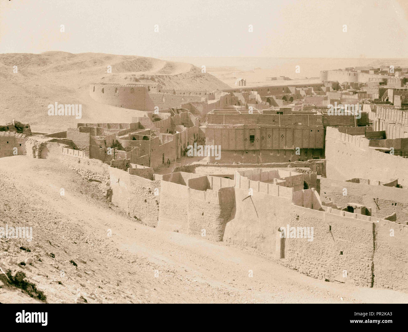Iraq. Nejaf. First sacred city of the Shiite Moslems [i.e., Muslims]. Ramparts and section of the city. Surrounded by endless - Stock Image