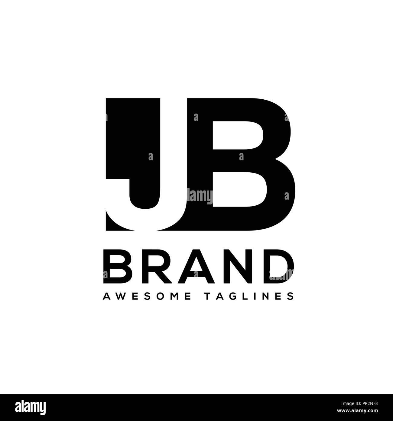 creative letter jb logo design black and white logo elements simple