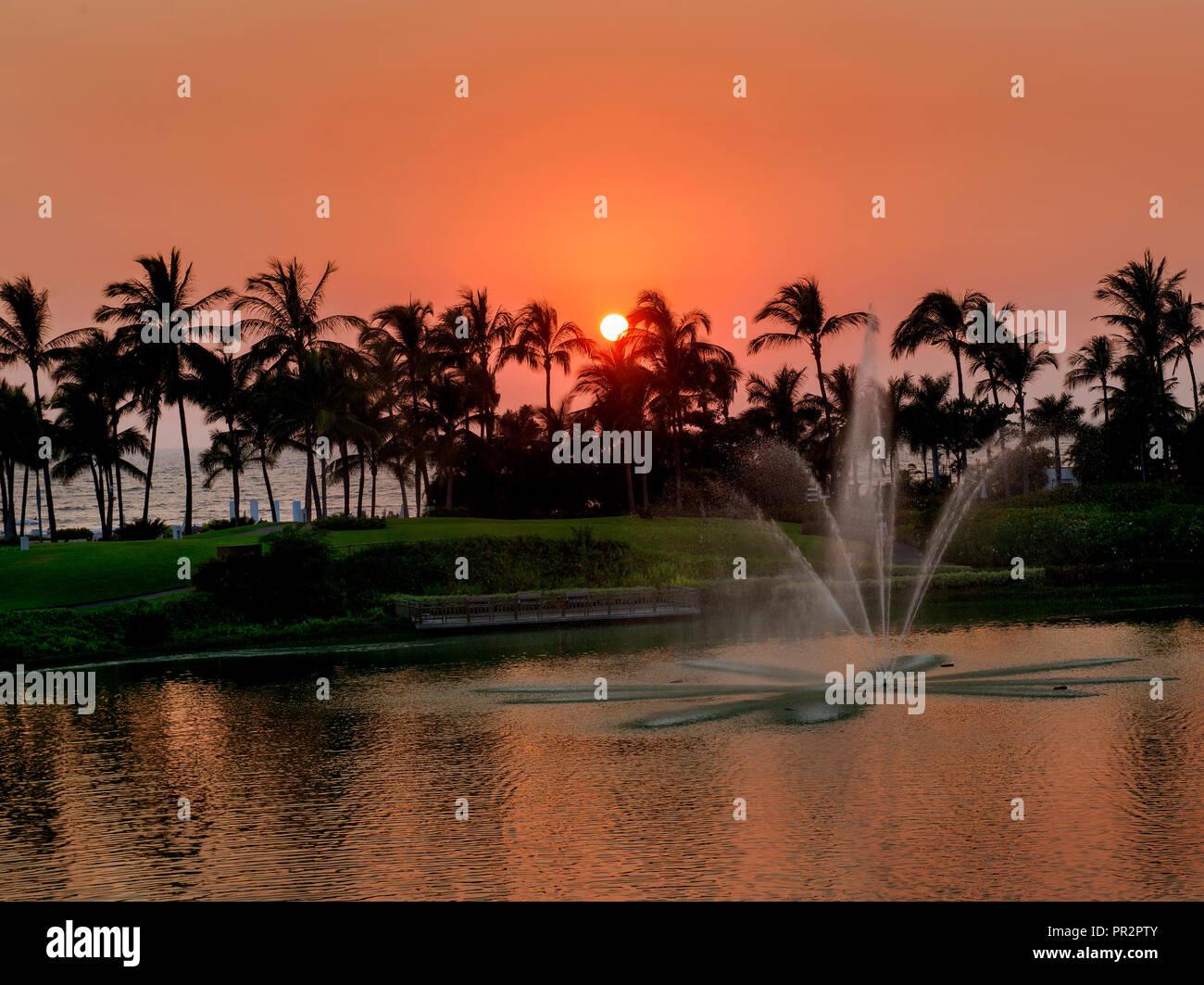 Romantic Sunset - Stock Image