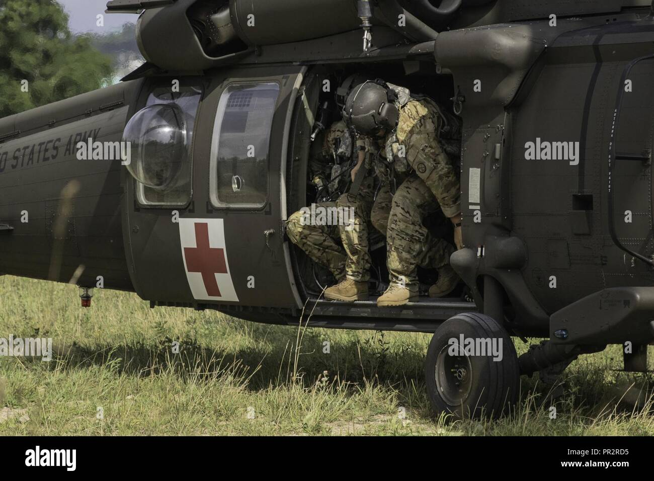 West Virginia Army National Guard Soldiers Assigned To The 772nd Troop Command And Attached Joint Task Force Aviation Respond A Medical Emergency On