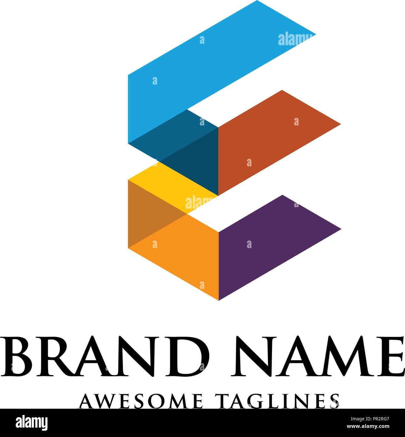 unique letter f creative logo template vector illustration logo for
