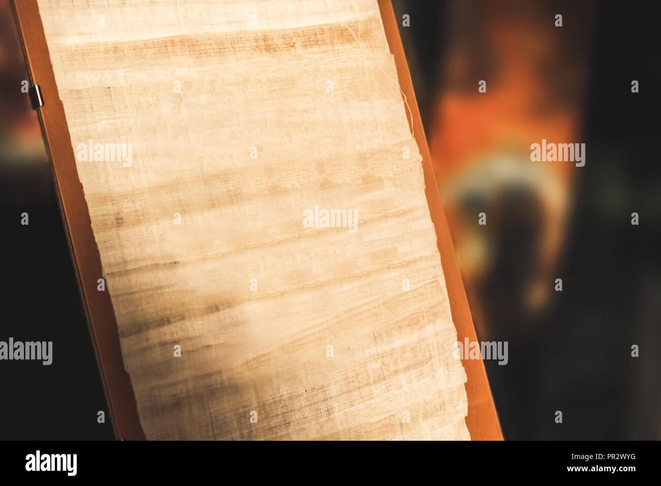 blank manuscript ancient empty parchment background - Stock Image