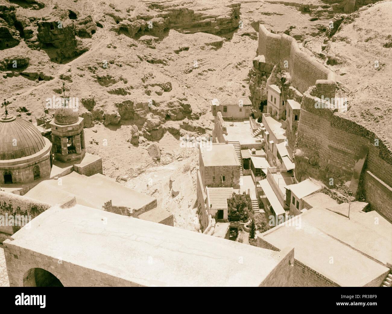 Mar Saba. Convent enclosure 1934, West Bank - Stock Image
