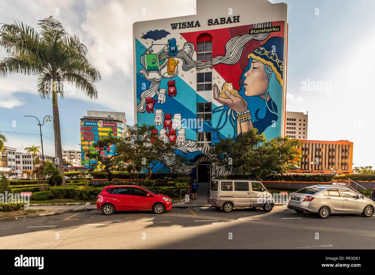 Seafront Kota Kinabalu Sabah,Malaysia,Borneo - Stock Image