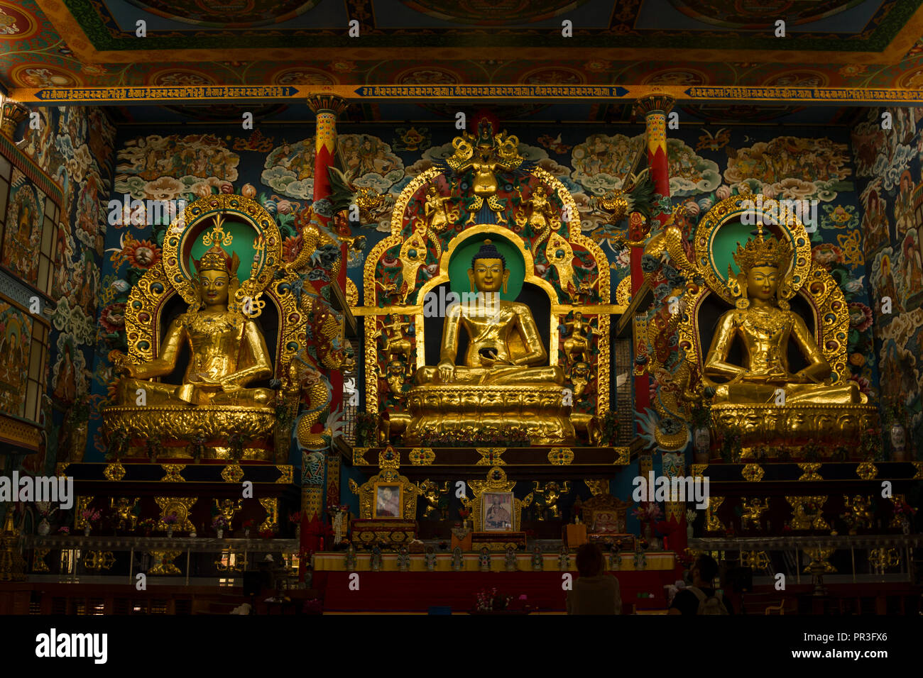 Namdroling Monastery at Kushalnagar, Coorg, Karnataka, India Stock Photo