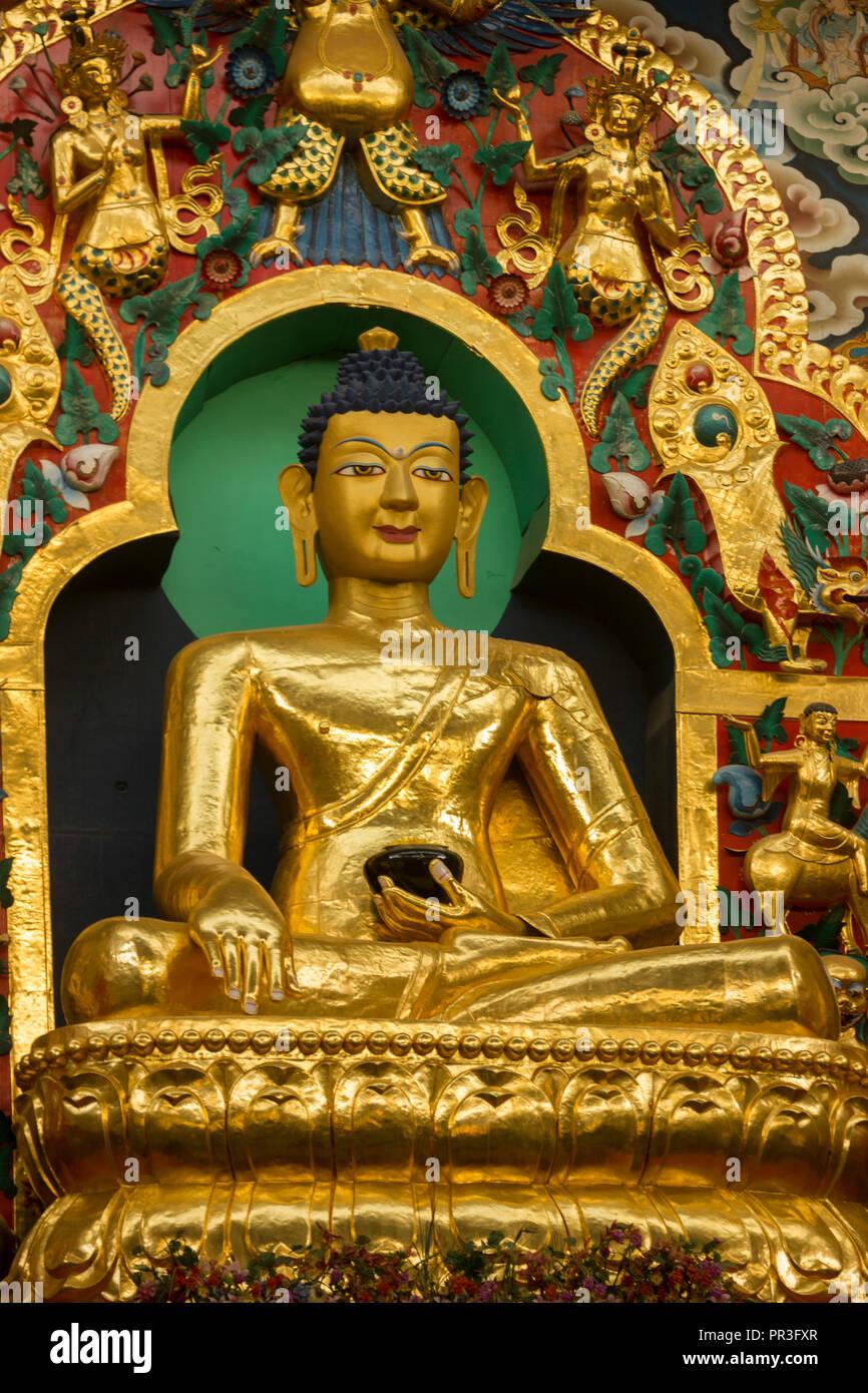 Namdroling Monastery at Kushalnagar, Coorg, Karnataka, India Stock Photo