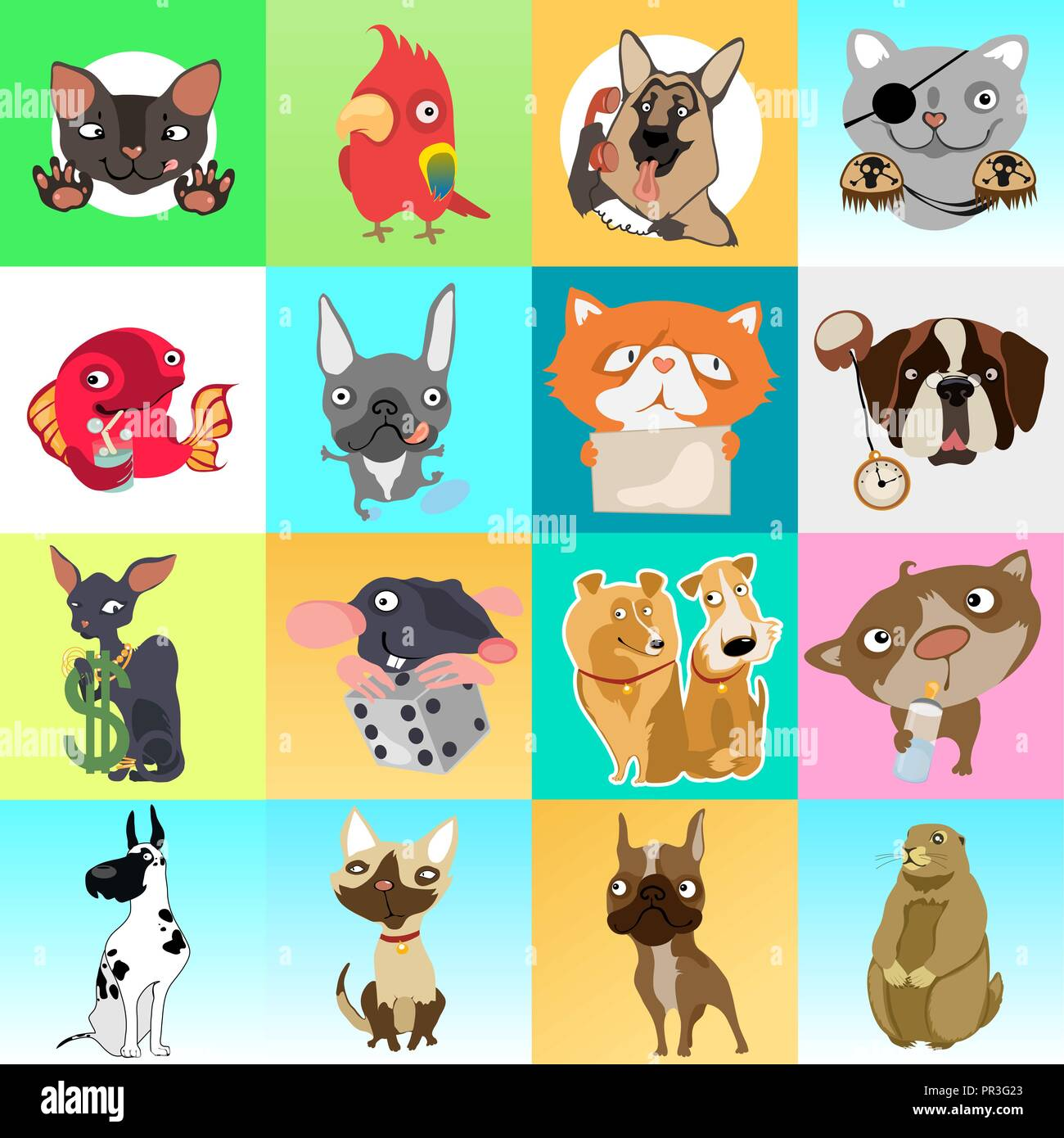 cute poster or greeting card with modern design on theme of funny