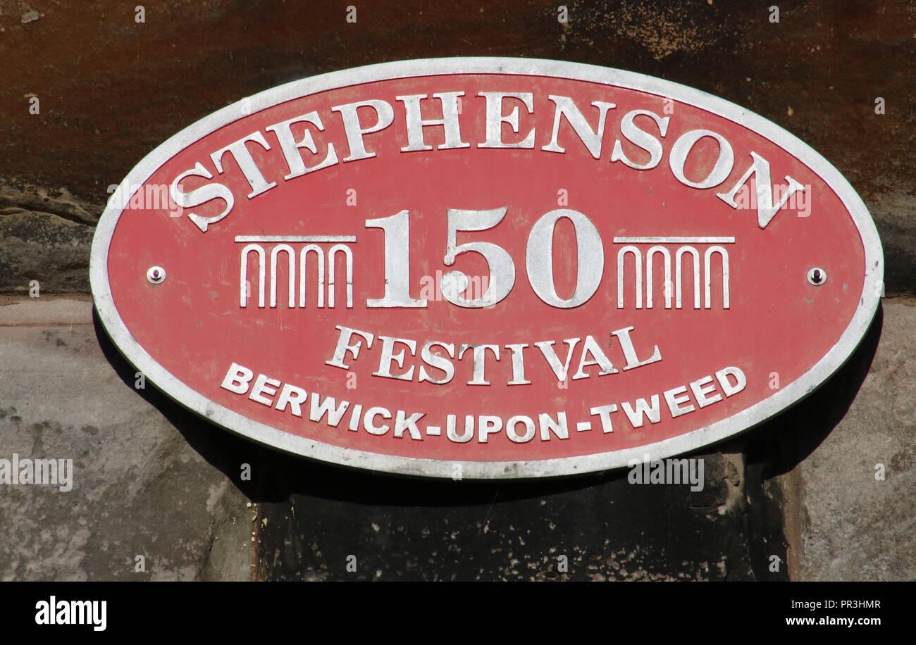 Jaguar Main Line >> Commemorative Plaque For Stephenson 150 Festival On The