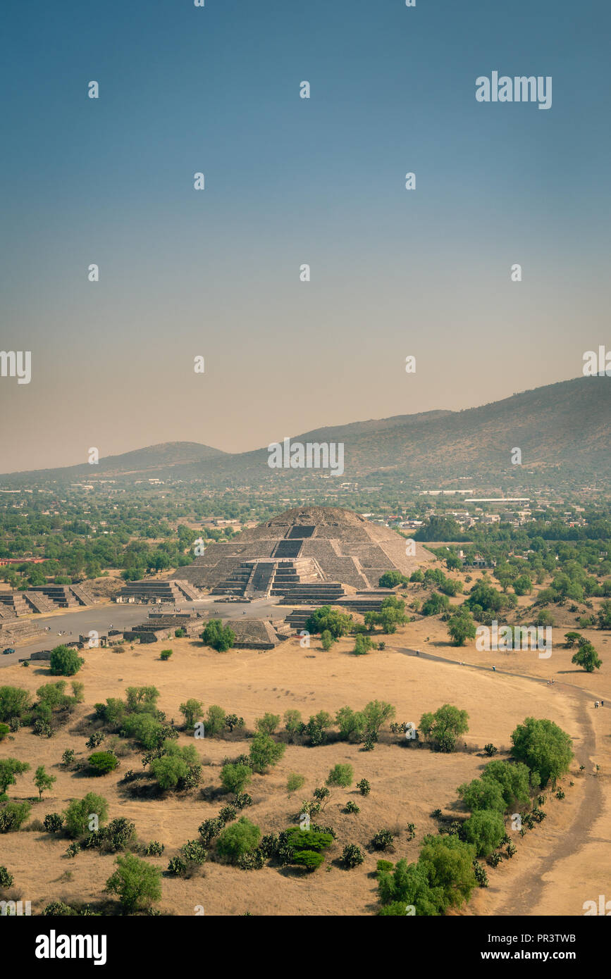 Aztec structure at Teotihuacan archeological site, Mexico - Stock Image