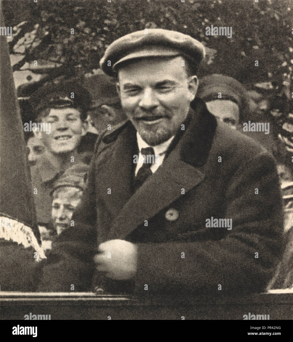 Vladimir Ilyich Ulyanov Lenin in Red Square, Moscow, May 1, 1919 - Stock Image