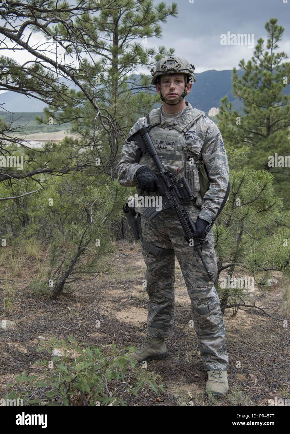 Senior Airman Nicholas Rauch of the 460th Security Forces