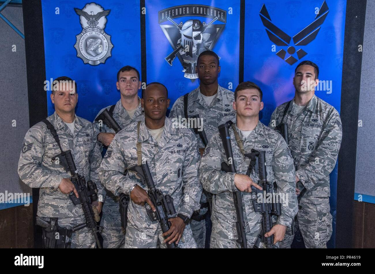 2018 Air Force Defender Challenge competitors, from Air