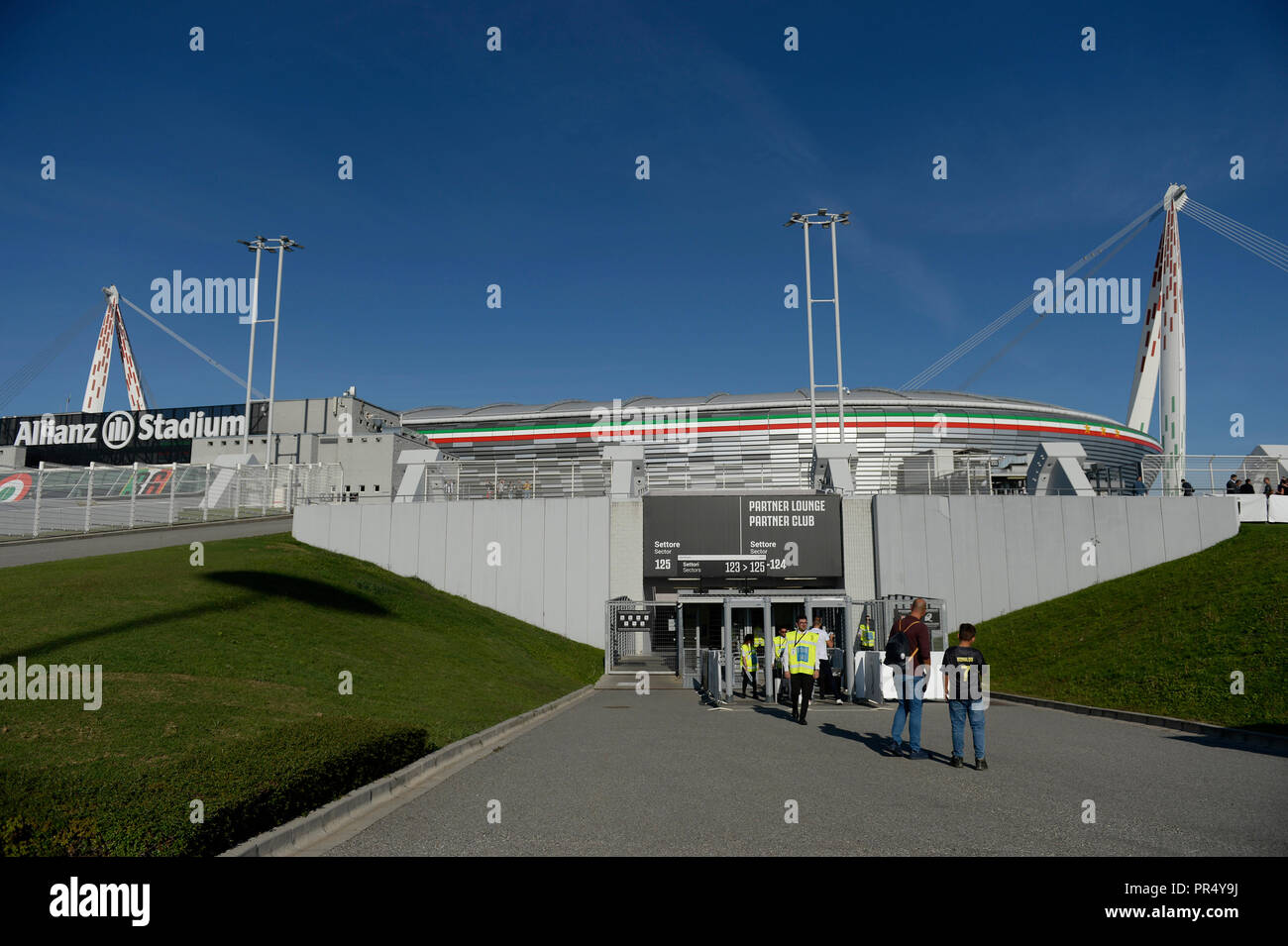Allianz Stadium Turin Italy 29th Sep 2018 Serie A Football Juventus Versus Napoli An External View Of The Stadium Prior Of The Game Credit Action Plus Sports Alamy Live News Stock Photo