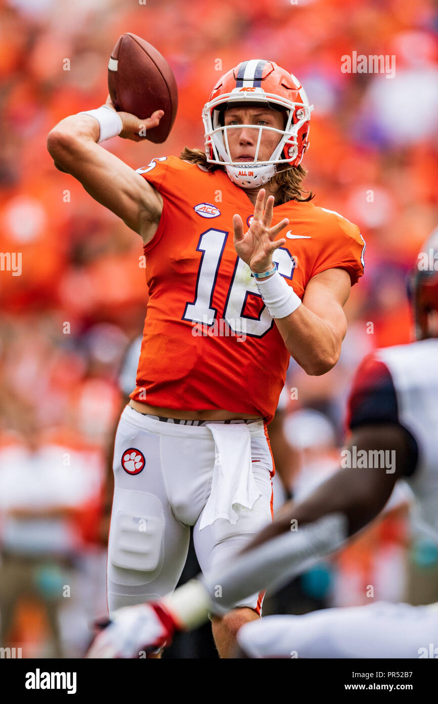 Clemson Tigers Quarterback Trevor Lawrence 16 During The