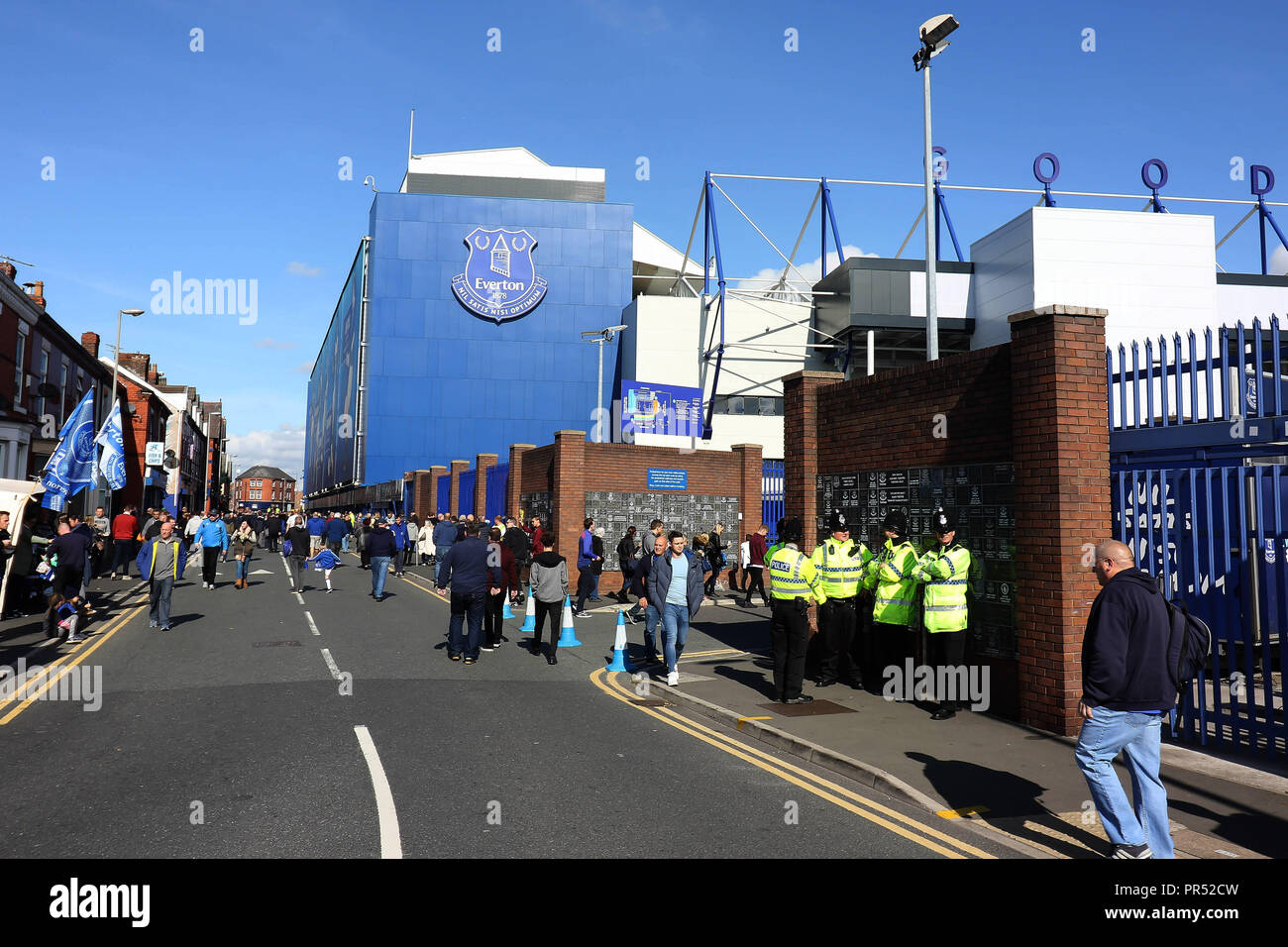 London, UK. 29th September 2018. A general view of Goodison Park before the Premier League match between Everton and Fulham at Goodison Park on September 29th 2018 in Liverpool, England. Credit: PHC Images/Alamy Live News Stock Photo
