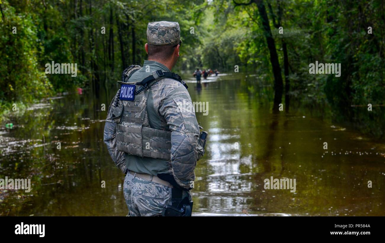 A U S  Air Force Security Forces Airmen assigned to the