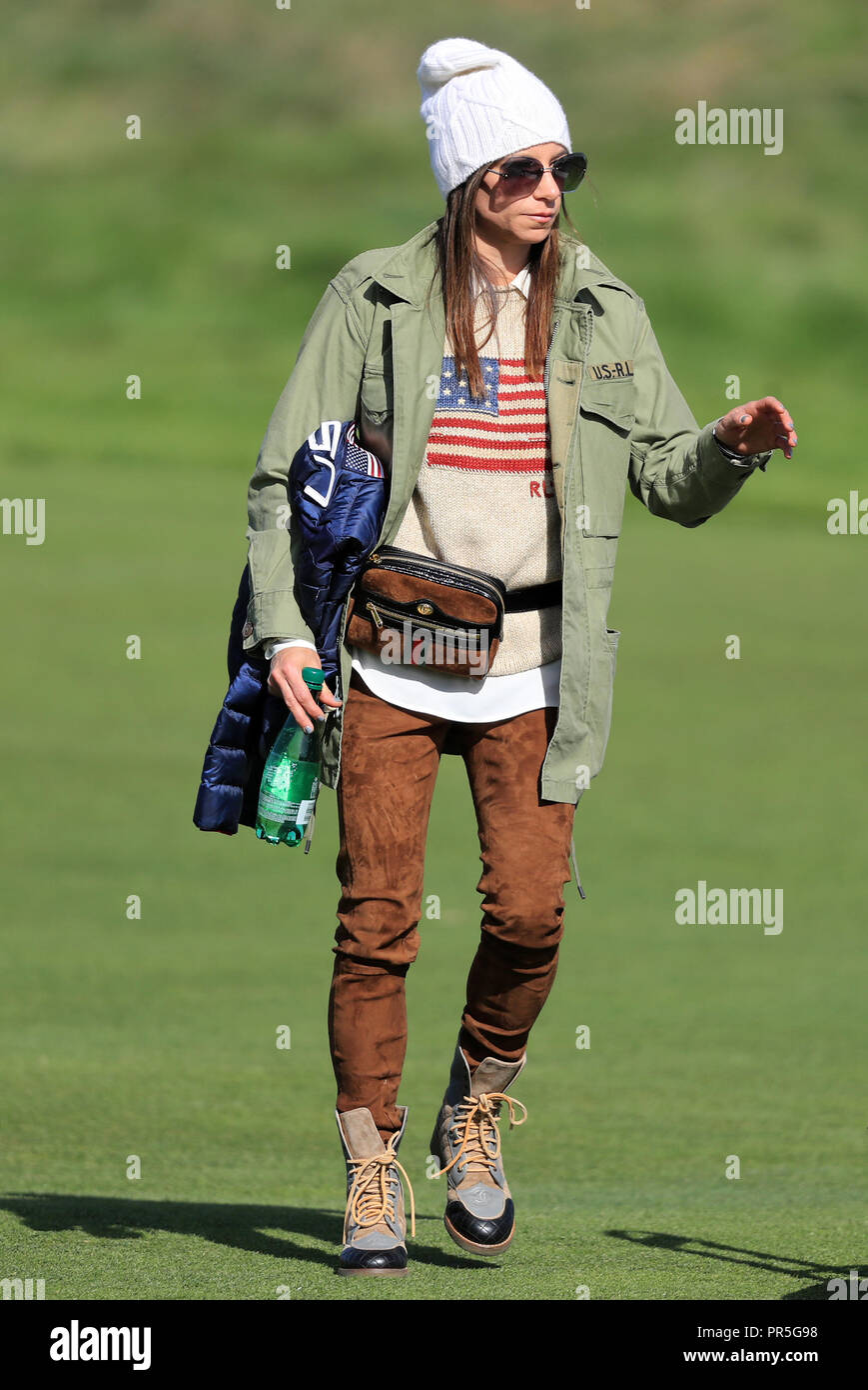 Tiger Woods Girlfriend Erica Herman During The Foursomes