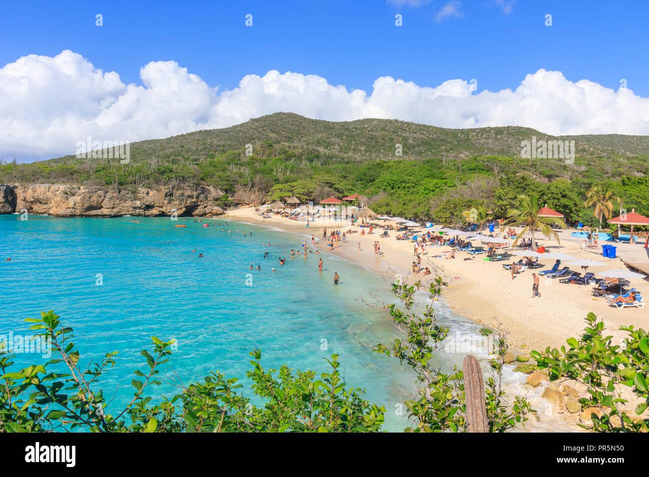 Curacao January 04 2018 Kenepa Grandi Grote Knip Beach