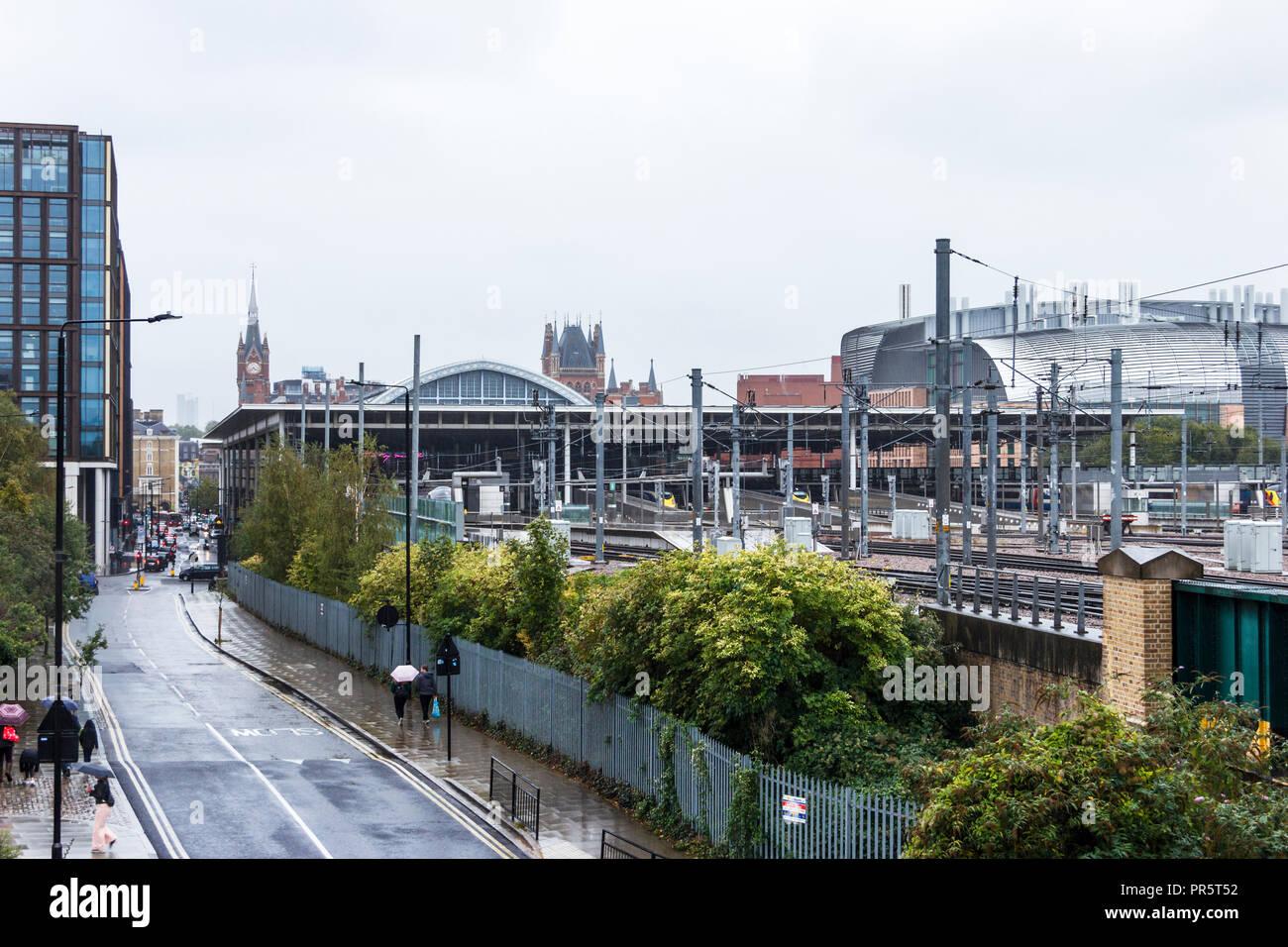 The railway line out of St. Pancras International railway station, London, UK, 2018 - Stock Image