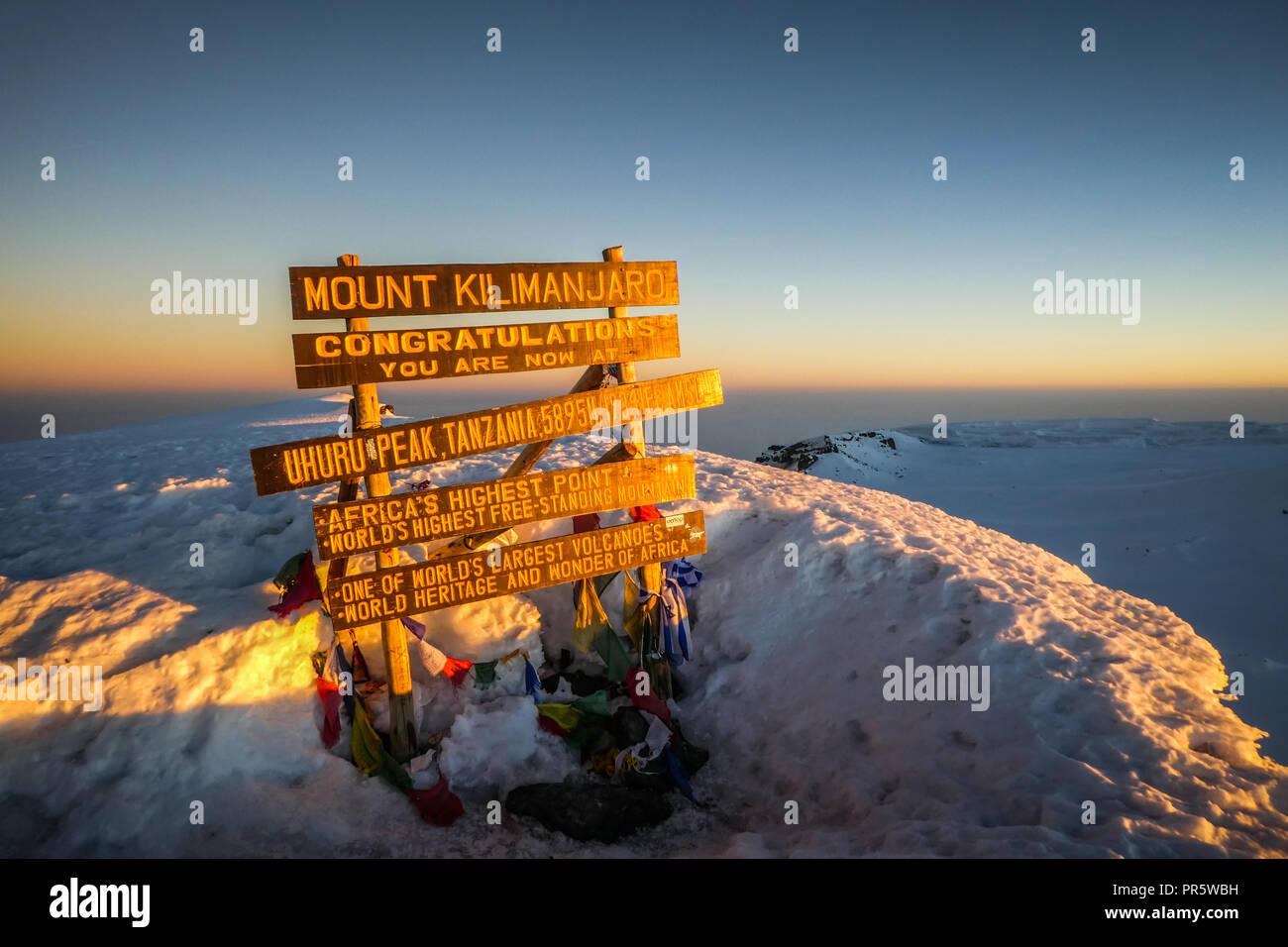 Kilimanjaro Tanzania Africa - Stock Image
