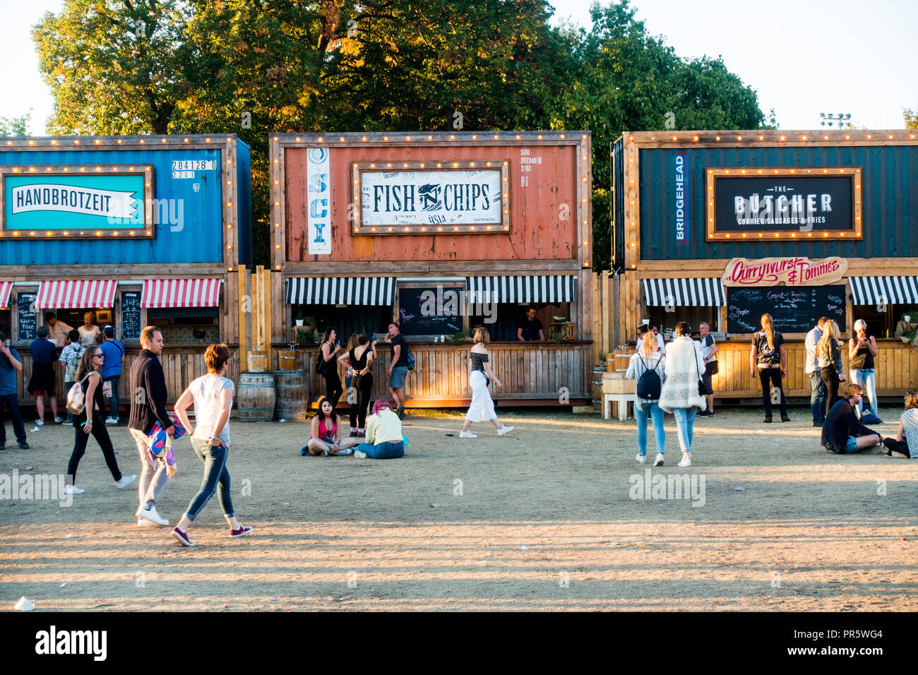 Lollapalooza music festival 2018 Berlin - Stock Image