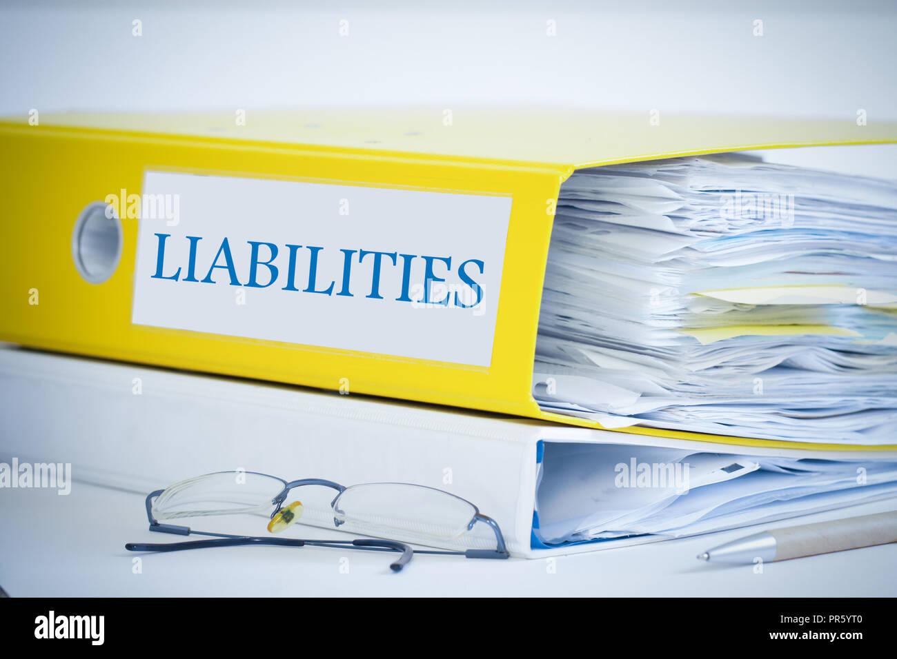 assets accounting folder - Stock Image